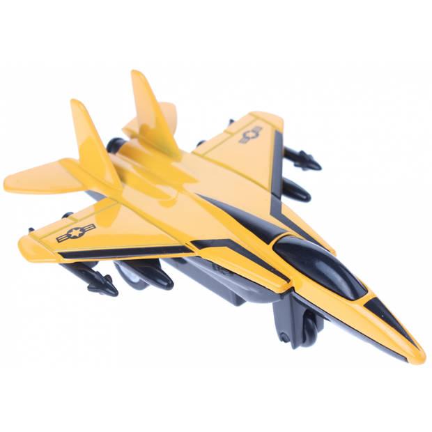 Johntoy straaljager geel 12 cm
