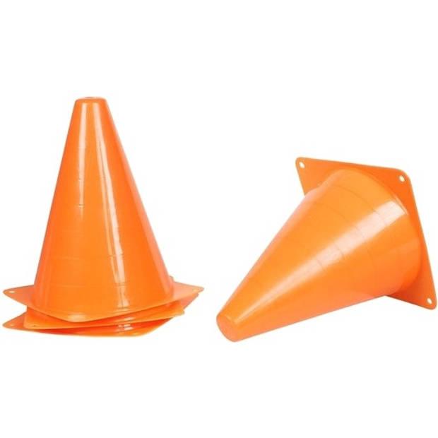 Johntoy pionnen 4 stuks Sports Active 18 cm oranje