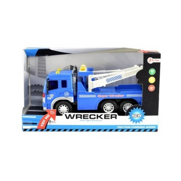 Toi-Toys Takelwagen met licht en geluid 28 cm blauw