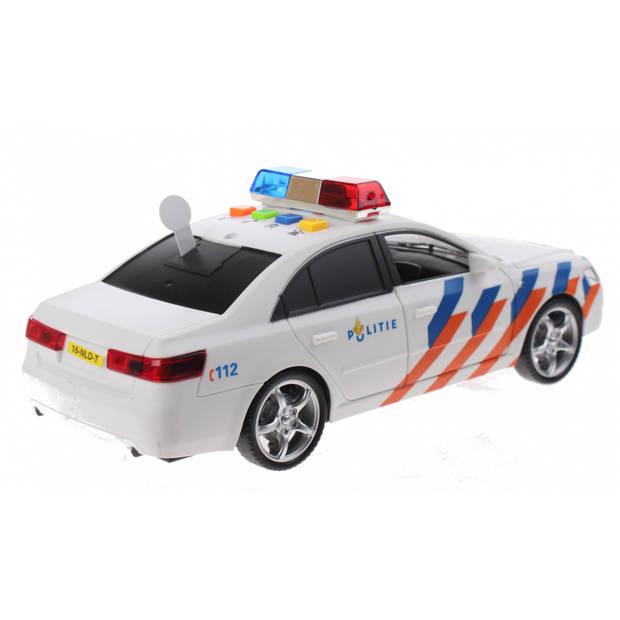 Toi-Toys Politiewagen met licht en geluid 24 cm wit