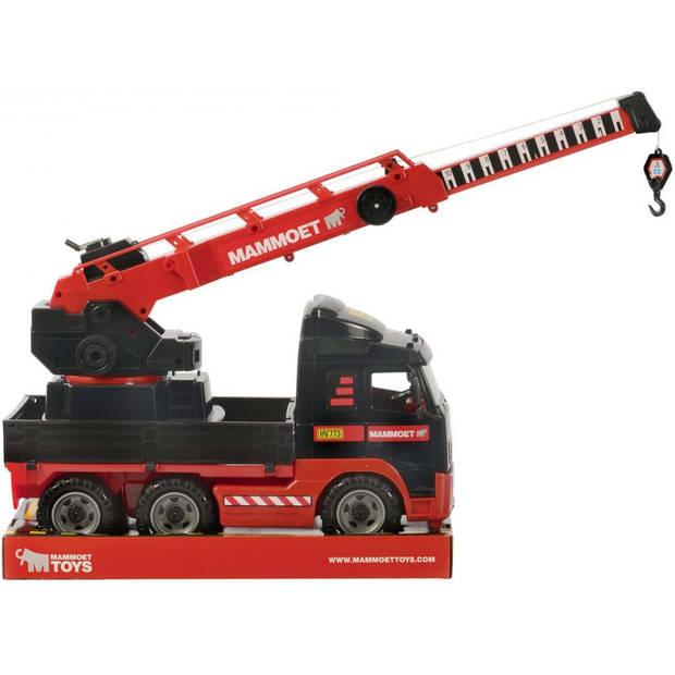 Polesie mammoet kraanwagen volvo 52x19x37 cm rood en zwart 1450636