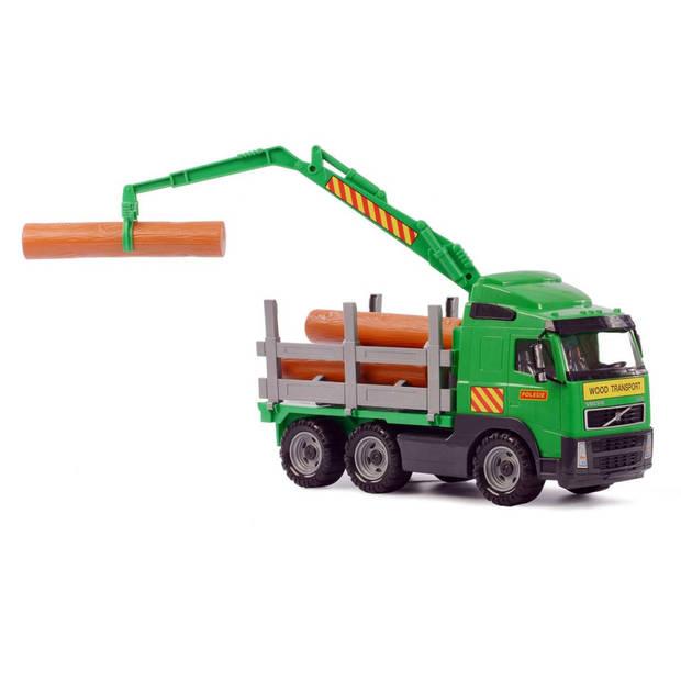 Polesie volvo houttransportvrachtwagen 45x19x25 cm groen 1450653