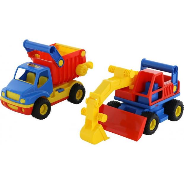 Polesie wader kiepwagen en graafmachine set 45x15x19 cm 1450570