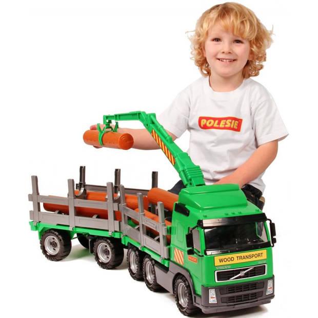 Polesie volvo houttransportvrachtwagen met trailer 78x19x25 cm 1450652