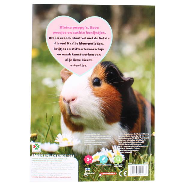 Selecta kleurboek Lieve dieren junior 21 x 30 cm