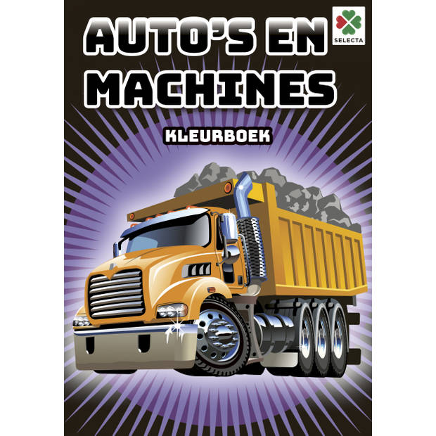 Selecta kleurboek Auto's en Machines