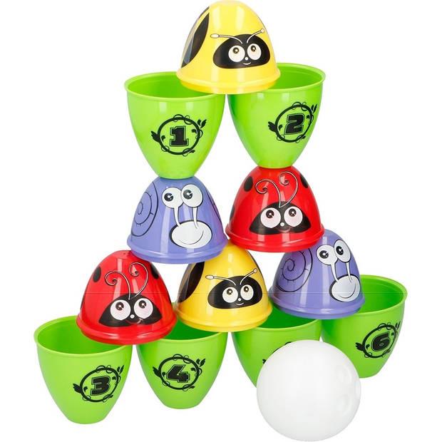 Eddy Toys 2-in-1 bowling- & werpspel 13-delig