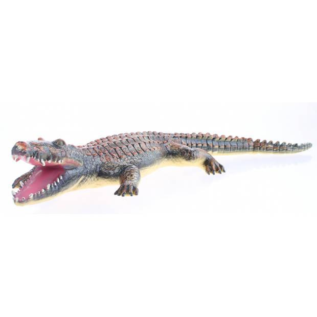Johntoy Animal World Soft Touch krokodil oranje/bruin 60 cm