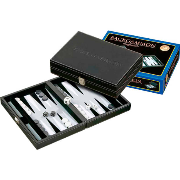 Philos backgammon tinos klein grijs 23 x 16,5cm