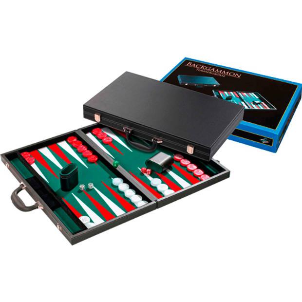 Philos backgammon groen tournament 54x32cm