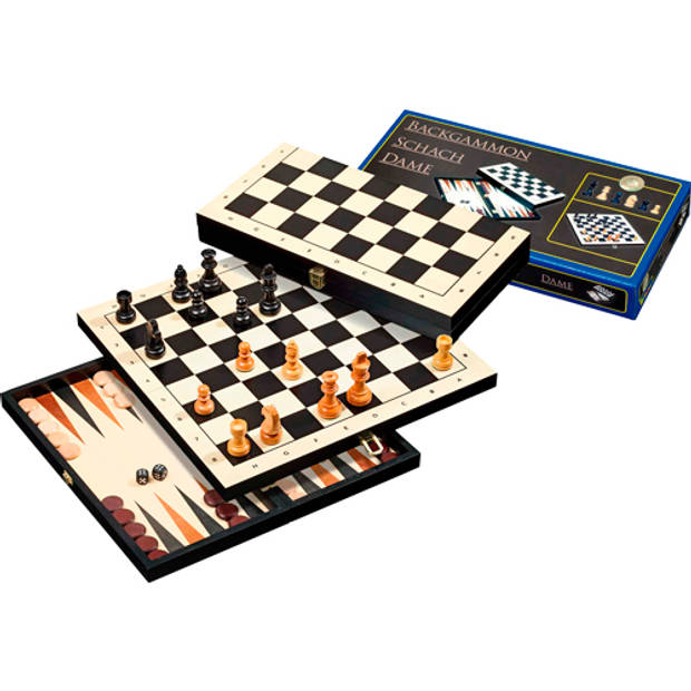 Philos backgammon 3 in 1 reis set 30mm