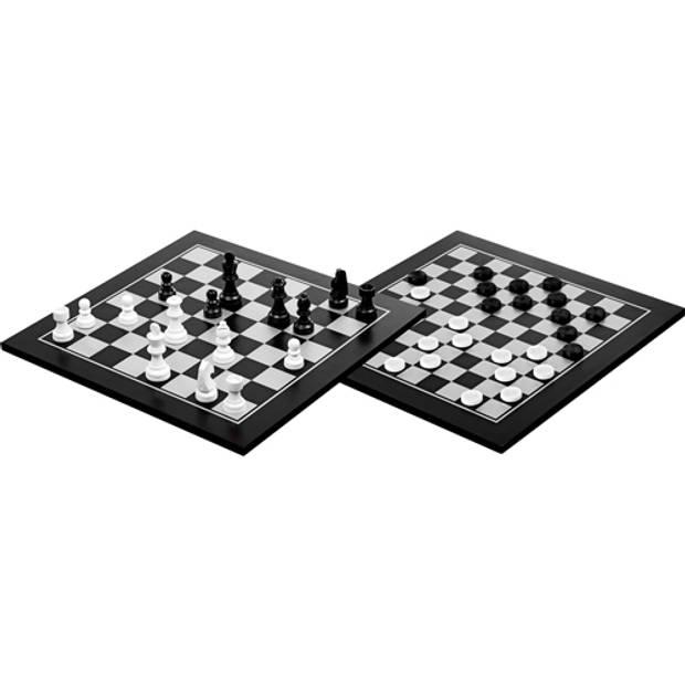 Philos houten schaak-dam set 40x40 cm