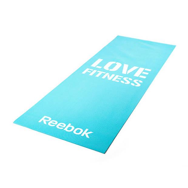 Fitness mat blue love reebok women's training