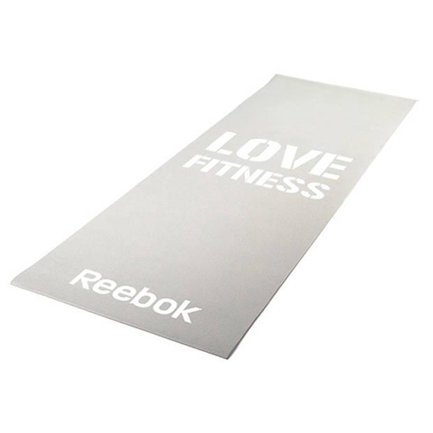 Fitness mat grey love reebok women's training