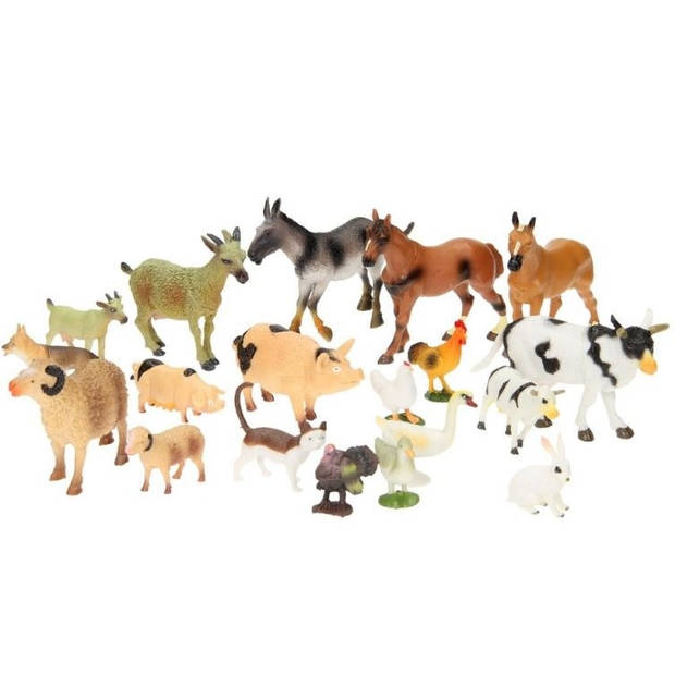 Johntoy Animal World boerderijdieren 20 stuks