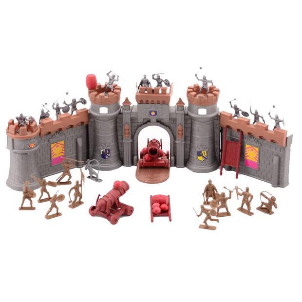 Johntoy Medieval Knights ridders met kasteel 37-delig