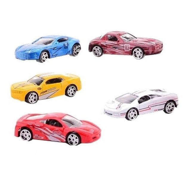 Johntoy auto's Super Cars 5 stuks