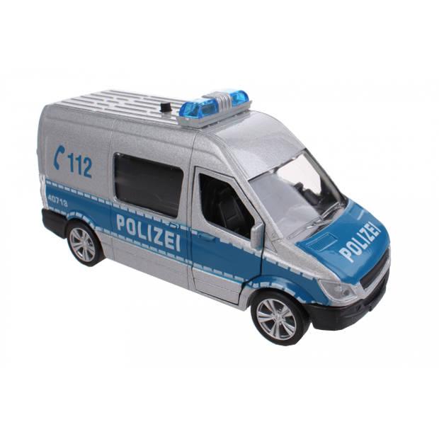 Johntoy duitse politie bus met licht en geluid 11,5 cm