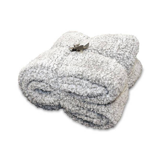 Unique Living Knut fleece plaid - 100% polyester - 150x200 cm - Grey