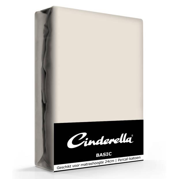 Cinderella Basic Hoeslaken Taupe-180 x 200 cm