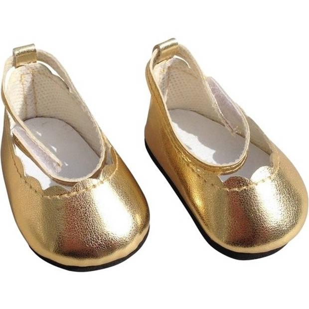 Mini Mommy schoentjes 35-45 cm goud