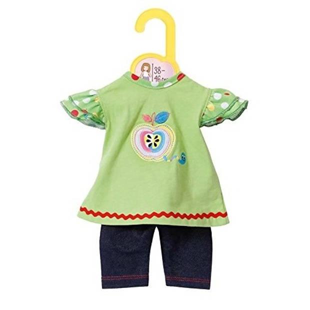 Zapf Creation Dolly Moda jurkje en Leggings groen 38-46 cm