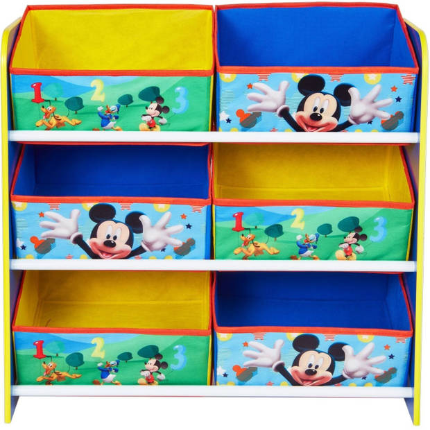 Disney opbergkast mickey mouse blauw/geel 60 x 23 x 51 cm