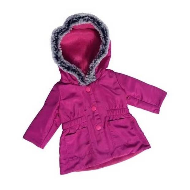 Amleg winterjas mini mommy 38-41 cm paars