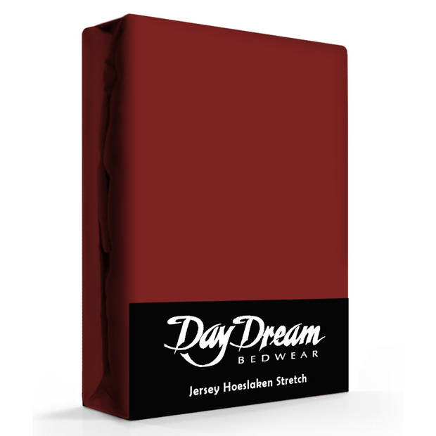 Day Dream Jersey Hoeslaken Bordeaux-190 x 220 cm