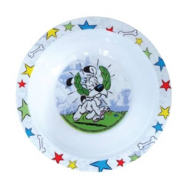 Asterix & Obelix Kom kunststof 16 cm wit