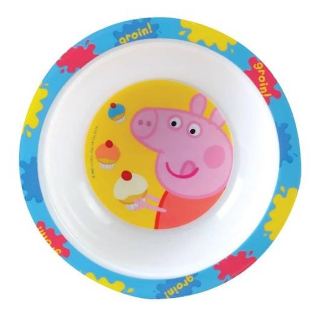 Nickelodeon kom Peppa Pig kunststof 16 cm wit