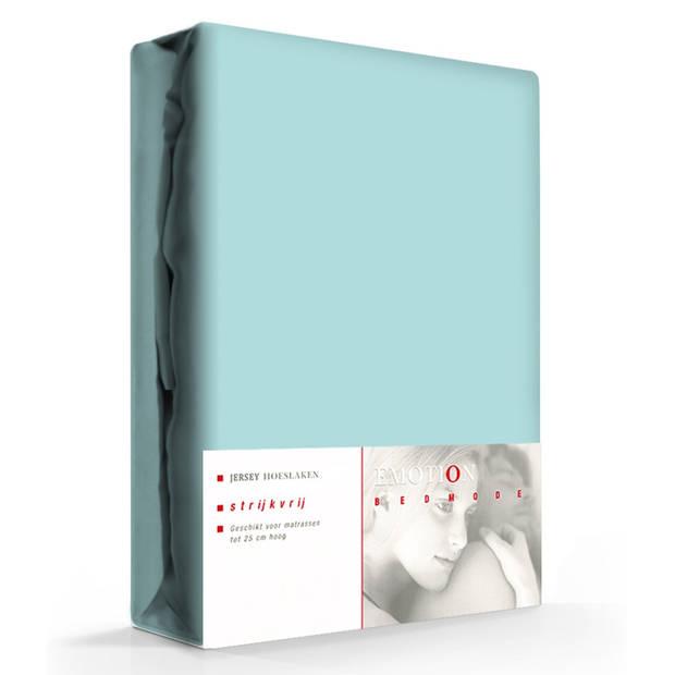 Jersey Hoeslaken Emotion Aqua-90 x 220 cm