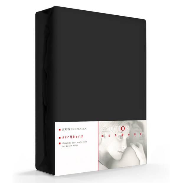 Jersey Hoeslaken Emotion Zwart-80/90 x 200 cm
