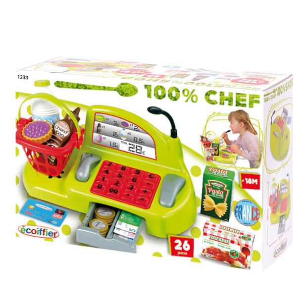 Écoiffier 100% chef: kassa kunststof 26-delig