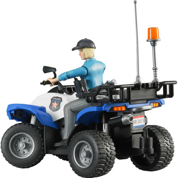 Politiequad met politieagente en accessoires