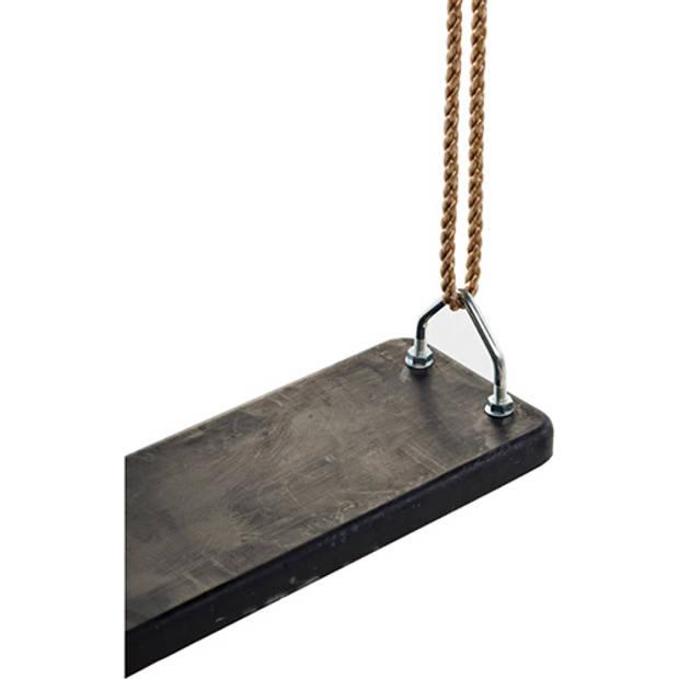 Schommel zitje kbt rubber (stalen inlegplaat) zwart
