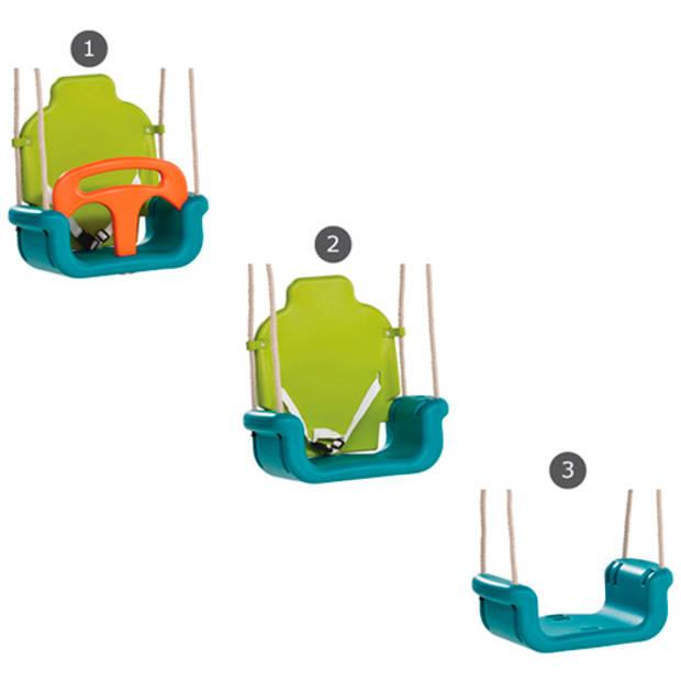 Schommel babyzitje kbt groeimodel pp limoen groen/oranje