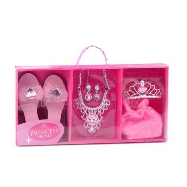 Johntoy Princess Secret prinsessen speelset roze 7-delig