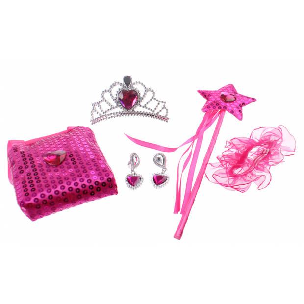 Johntoy Princess Secret giftset roze 5-delig