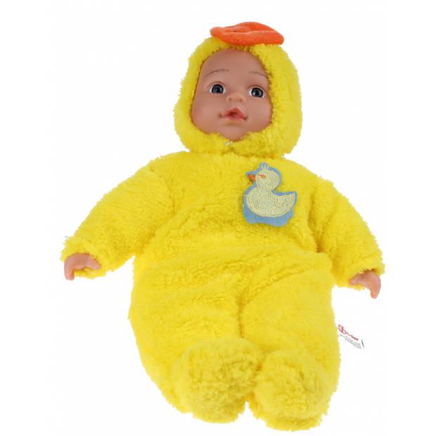 Toi-Toys Babypop met dierenpyjama - eend