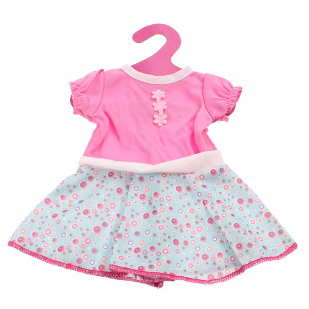 Johntoy Baby Rose Jurkje Bloemen roze/blauw 22 cm