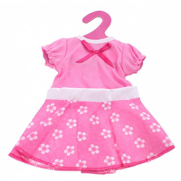 Johntoy Baby Rose Jurkje Strik roze 22 cm