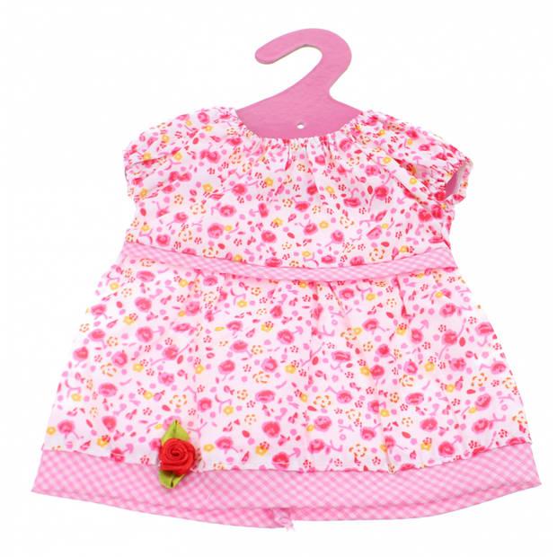 Johntoy Baby Rose Jurkje Roos roze 22 cm