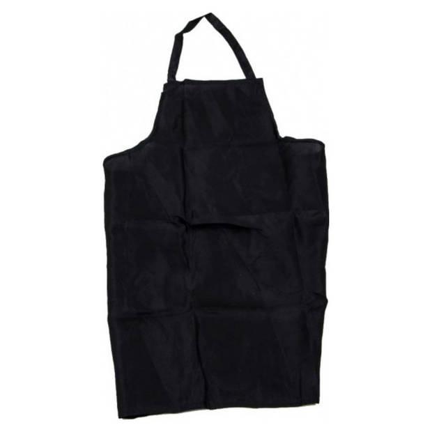 Unisex Barbecue schort - zwart - katoen