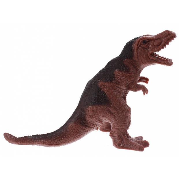 Johntoy Stretchy Creatures Dinosaurus 18 cm bruin