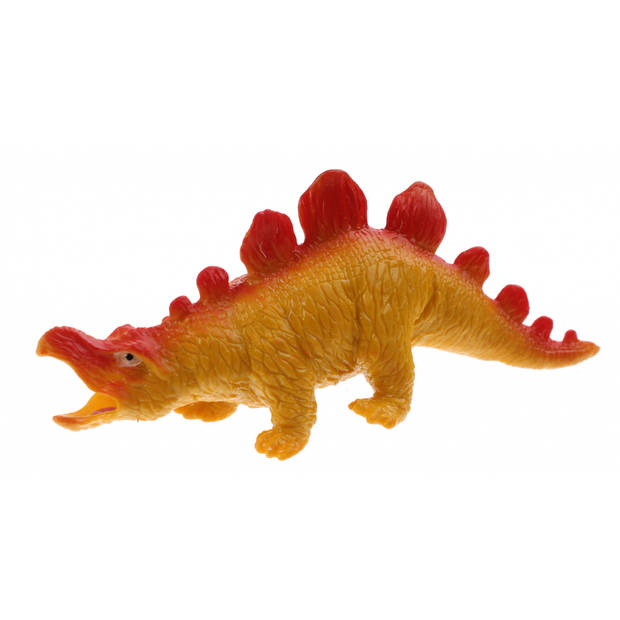 Johntoy stretchy creatures dinosaurus 18 cm geel