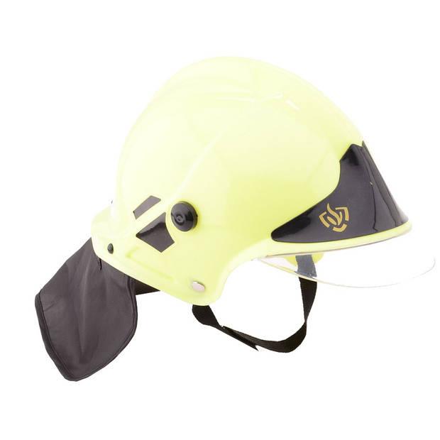 Johntoy brandweerhelm deluxe Duitse versie geel
