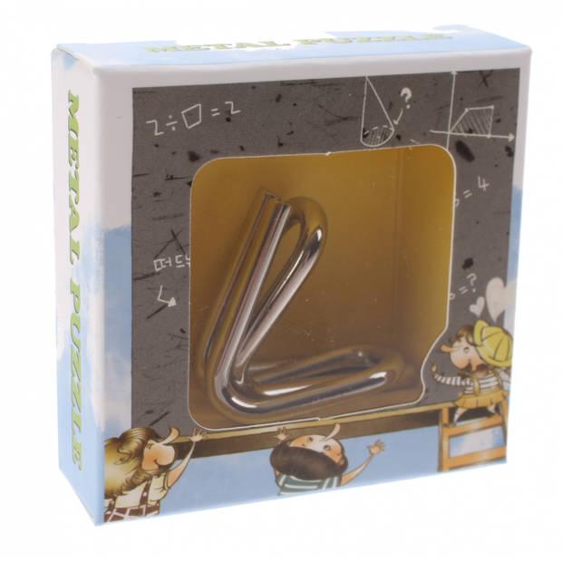 Johntoy breinbreker puzzel 3 cm staal zilver