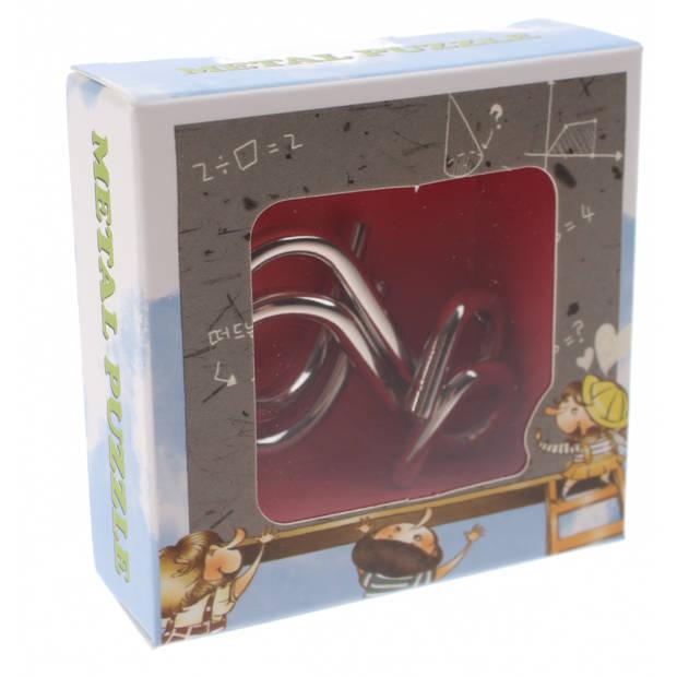 Johntoy breinbreker puzzel 3 cm zilver staal