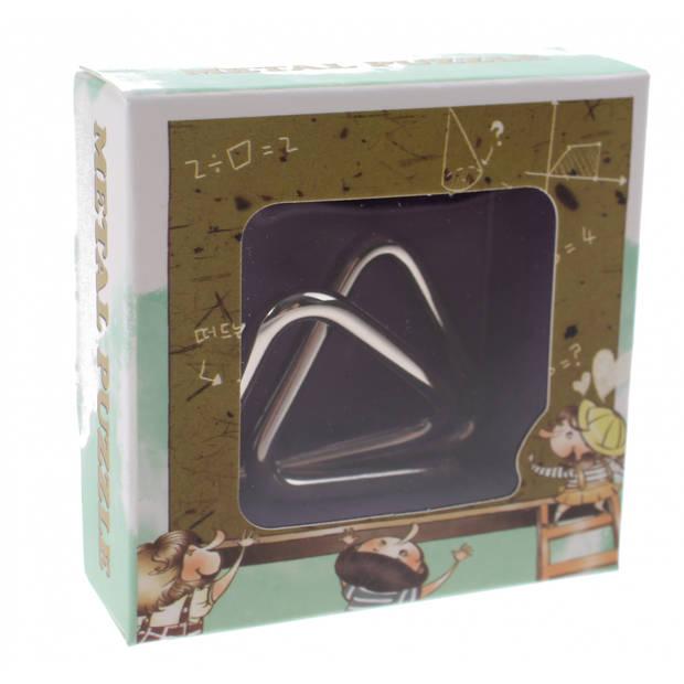 Johntoy breinbreker puzzel 4 cm zilver staal